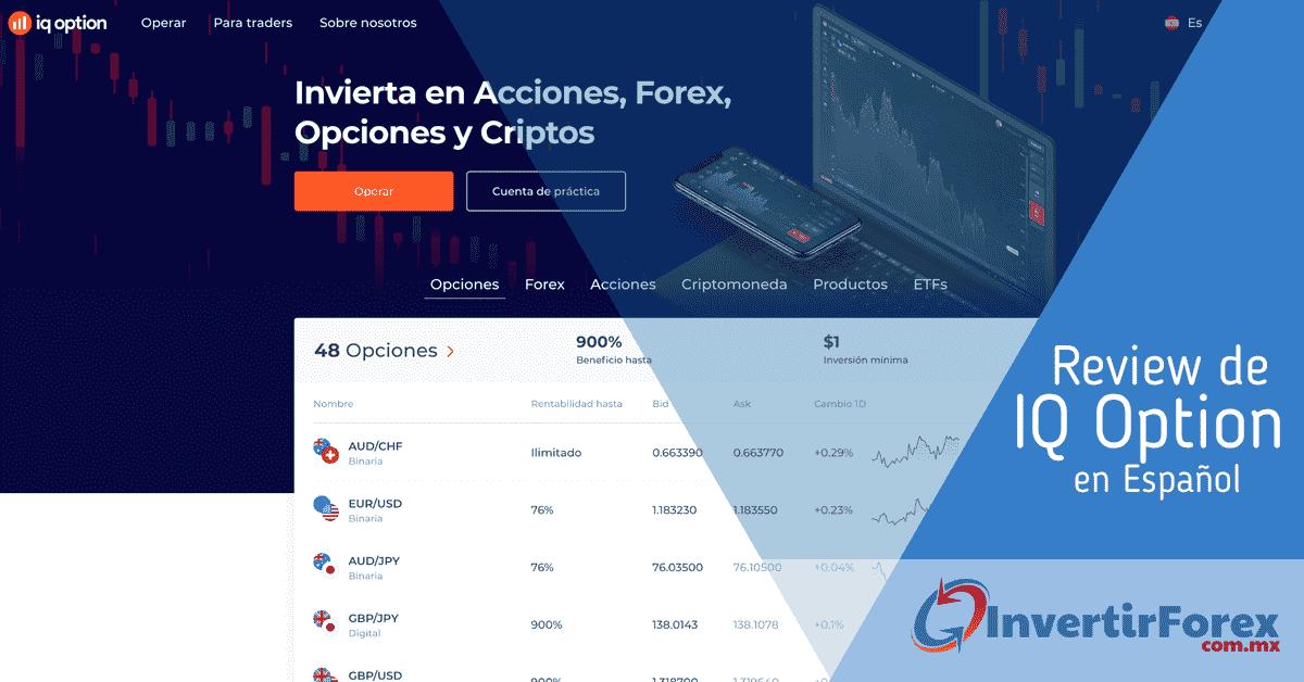 Página de Inicio de IQ Option en Español